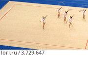 Купить «Гимнастки с обручами на XXX Чемпионате мира по художественной гимнастике», видеоролик № 3729647, снято 12 декабря 2010 г. (c) Losevsky Pavel / Фотобанк Лори