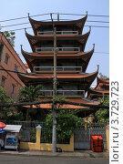 Купить «Буддийский храм-пагода в городе Хошимин (Сайгон) во Вьетнаме», фото № 3729723, снято 20 февраля 2011 г. (c) Раппопорт Михаил / Фотобанк Лори