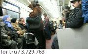 Купить «В Московском метро (Таймлапс)», видеоролик № 3729763, снято 18 марта 2011 г. (c) Losevsky Pavel / Фотобанк Лори