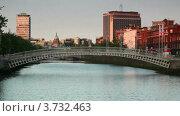 Купить «Мост Liffey», видеоролик № 3732463, снято 30 января 2011 г. (c) Losevsky Pavel / Фотобанк Лори