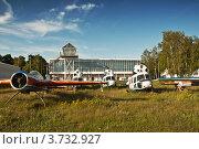 Старые заброшенные  самолеты. Стоковое фото, фотограф Олег Скударнов / Фотобанк Лори