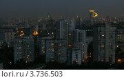 Купить «Район Сокольники в ночное время(таймлапс)», видеоролик № 3736503, снято 31 мая 2011 г. (c) Losevsky Pavel / Фотобанк Лори