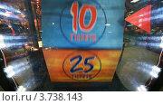 Купить «Детская слот машина с цифрами крупным планом», видеоролик № 3738143, снято 3 августа 2011 г. (c) Losevsky Pavel / Фотобанк Лори