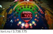 Купить «Красочный игровой автомат с вращающимися белыми лампами, детские игровые автоматы», видеоролик № 3738175, снято 3 августа 2011 г. (c) Losevsky Pavel / Фотобанк Лори
