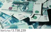 Купить «Макрофотография множества тысячерублевых купюр, вращающихся на разных уровнях», видеоролик № 3738239, снято 25 мая 2007 г. (c) Losevsky Pavel / Фотобанк Лори