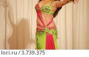 Купить «Молодая женщина исполняет танец живота на сцене», видеоролик № 3739375, снято 8 июня 2011 г. (c) Losevsky Pavel / Фотобанк Лори