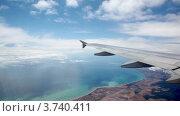 Купить «Крыло самолета на фоне неба и земли», видеоролик № 3740411, снято 17 июля 2011 г. (c) Losevsky Pavel / Фотобанк Лори