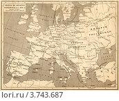Купить «Карта Европы во времена Наполеона», фото № 3743687, снято 19 августа 2019 г. (c) Юрий Кобзев / Фотобанк Лори