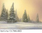 Морозный день. Стоковая иллюстрация, иллюстратор Калятина Наталья / Фотобанк Лори