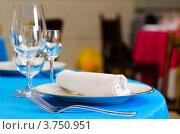 Купить «Сервировка стола», фото № 3750951, снято 21 июля 2012 г. (c) Сергей Петерман / Фотобанк Лори