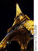 Купить «Эйфелева башня ночью», фото № 3752859, снято 4 июля 2012 г. (c) Иван Демьянов / Фотобанк Лори