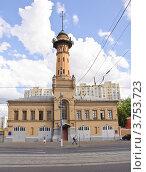 Купить «Пожарная каланча в Сокольниках», эксклюзивное фото № 3753723, снято 9 августа 2012 г. (c) Алёшина Оксана / Фотобанк Лори