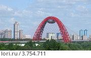 Купить «Мост через Москву-реку у Гребного канала, таймлапс», видеоролик № 3754711, снято 14 августа 2011 г. (c) Losevsky Pavel / Фотобанк Лори