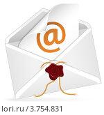 Купить «Письмо, открытый бумажный конверт с печатью», иллюстрация № 3754831 (c) Алексей Тельнов / Фотобанк Лори