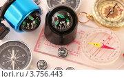 Купить «Множество самых разных компасов», видеоролик № 3756443, снято 20 августа 2011 г. (c) Losevsky Pavel / Фотобанк Лори