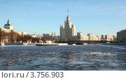 Купить «Котельническая набережная зимой», видеоролик № 3756903, снято 17 сентября 2011 г. (c) Losevsky Pavel / Фотобанк Лори