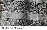 Купить «Рельсы и шпалы крупным планом», видеоролик № 3757327, снято 13 декабря 2011 г. (c) Losevsky Pavel / Фотобанк Лори