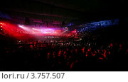 Купить «Толпа людей на рэйв-вечеринке на стадионе», видеоролик № 3757507, снято 17 декабря 2011 г. (c) Losevsky Pavel / Фотобанк Лори