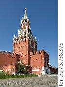 Купить «Спасская башня Московского Кремля», эксклюзивное фото № 3758375, снято 3 августа 2012 г. (c) Елена Коромыслова / Фотобанк Лори