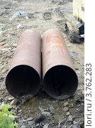 Водопроводные трубы большого диаметра. Стоковое фото, фотограф Воробьев Валерий / Фотобанк Лори