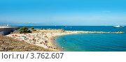 Купить «Отдых на пляже, Антиб, лазурное побережье Франции», фото № 3762607, снято 12 июня 2010 г. (c) ElenArt / Фотобанк Лори