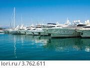 Купить «Яхты в порту Антиб, лазурное побережье Франции», фото № 3762611, снято 12 июня 2010 г. (c) ElenArt / Фотобанк Лори