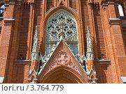 Купить «Москва, католический костёл Непорочного зачатия девы Марии, деталь», фото № 3764779, снято 15 июня 2012 г. (c) ИВА Афонская / Фотобанк Лори