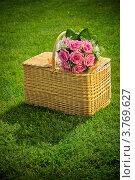 Свадебный букет на корзине. Стоковое фото, фотограф Алексей Казнадей / Фотобанк Лори