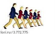 Купить «Бизнесмены маршируют на белом фоне», видеоролик № 3772775, снято 14 января 2008 г. (c) Losevsky Pavel / Фотобанк Лори