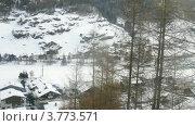 Коттеджи и отели в Зольдене, Австрия, таймлапс. Стоковое видео, видеограф Losevsky Pavel / Фотобанк Лори
