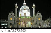 Купить «Карлскирхе в Вене», видеоролик № 3773703, снято 3 марта 2012 г. (c) Losevsky Pavel / Фотобанк Лори