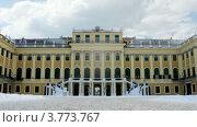 Купить «Дворец Шенбрунн в Вене, таймлапс», видеоролик № 3773767, снято 3 марта 2012 г. (c) Losevsky Pavel / Фотобанк Лори