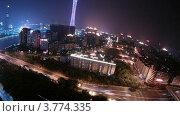 Купить «Телевизионная башня ночью(таймлапс)», видеоролик № 3774335, снято 17 января 2012 г. (c) Losevsky Pavel / Фотобанк Лори