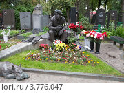 Купить «Могила Юрия Никулина на Новодевичьем кладбище», эксклюзивное фото № 3776047, снято 23 августа 2012 г. (c) Яна Королёва / Фотобанк Лори