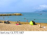 Купить «Пляж на Лазурном побережье Франции, Канны», фото № 3777187, снято 13 июня 2010 г. (c) ElenArt / Фотобанк Лори