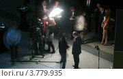 Победители дают интервью после церемонии награждения победителей премии Брэнд года EFFIE 2011, таймлапс (2012 год). Редакционное видео, видеограф Losevsky Pavel / Фотобанк Лори