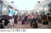 Купить «Журналисты на расширенном заседании Государственного Совета, таймлапс», видеоролик № 3780135, снято 27 мая 2012 г. (c) Losevsky Pavel / Фотобанк Лори