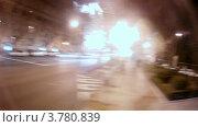 Купить «Автобус едет по ночным улицам Мадрида, таймлапс», видеоролик № 3780839, снято 19 апреля 2012 г. (c) Losevsky Pavel / Фотобанк Лори