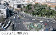 Купить «Фонтан с колесницей богини Кибелы (таймлапс)», видеоролик № 3780879, снято 20 апреля 2012 г. (c) Losevsky Pavel / Фотобанк Лори