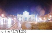 Купить «Автомобили на площади Пуэрта-де-Алькала, таймлапс», видеоролик № 3781203, снято 20 апреля 2012 г. (c) Losevsky Pavel / Фотобанк Лори