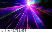 Купить «Лазерное шоу в клубе», видеоролик № 3782451, снято 30 мая 2012 г. (c) Losevsky Pavel / Фотобанк Лори