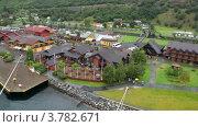 Купить «Панорама порта с домами, людьми и кораблями», видеоролик № 3782671, снято 5 июня 2012 г. (c) Losevsky Pavel / Фотобанк Лори