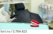 Купить «Большая игрушка челюсть на столе в стоматологической хирургии», видеоролик № 3784423, снято 25 июля 2012 г. (c) Losevsky Pavel / Фотобанк Лори