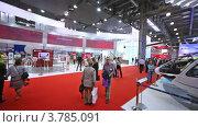 Купить «Посетители международной выставки вертолетов», видеоролик № 3785091, снято 30 июля 2012 г. (c) Losevsky Pavel / Фотобанк Лори