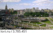 Купить «Вид на площадь Европы, таймлапс», видеоролик № 3785451, снято 7 июня 2012 г. (c) Losevsky Pavel / Фотобанк Лори