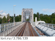 Купить «На железнодорожном мосту. Савонлинна, Финляндия», фото № 3786139, снято 25 августа 2012 г. (c) Виктор Карасев / Фотобанк Лори
