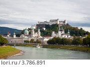 Вид на Зальцбург и крепость Хоэнзальцбург. Австрия, фото № 3786891, снято 16 августа 2012 г. (c) Наталья Волкова / Фотобанк Лори