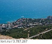Купить «Алушта. Вид сверху», фото № 3787267, снято 21 июля 2012 г. (c) Светлана Овчинникова / Фотобанк Лори