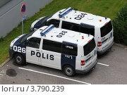 Купить «Полицейские автомобили. Финляндия», фото № 3790239, снято 28 августа 2012 г. (c) Александр Тарасенков / Фотобанк Лори