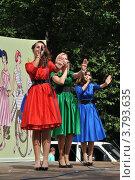 Купить «ВелоПарад «Леди на велосипеде» в парке «Сокольники». Москва», эксклюзивное фото № 3793635, снято 5 августа 2012 г. (c) lana1501 / Фотобанк Лори